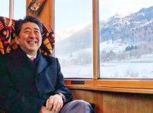 Shinzo Abe took the poor man's route to Davos
